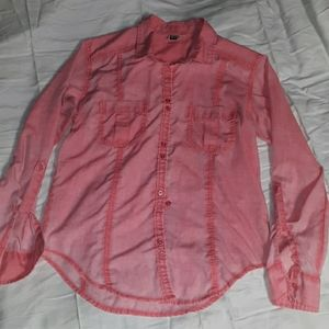 Roxy large women's button up top NICE
